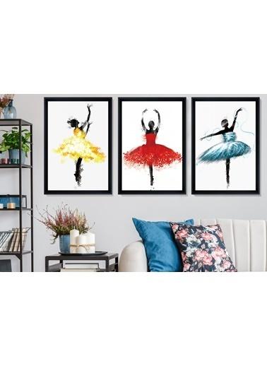 Çerçeve Home  Ballerina Girls Siyah Çerçeve Tablo Seti Siyah